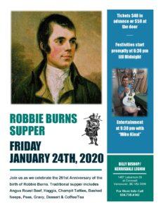 Robbie Burns Dinner